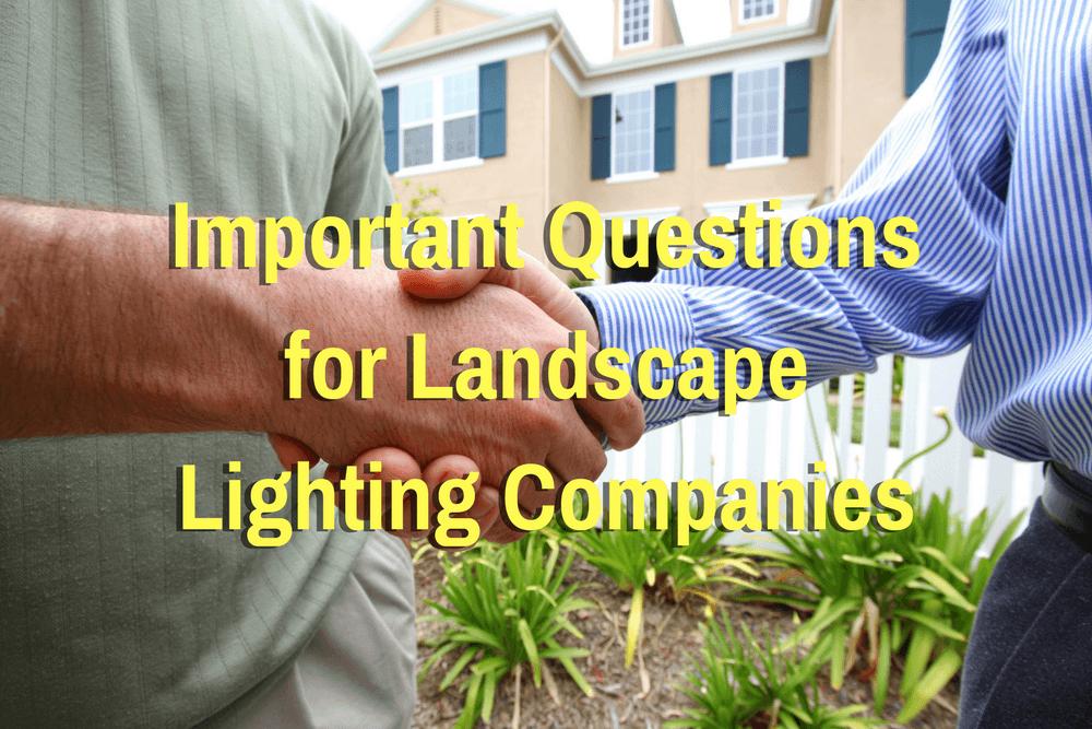 Edgar Questions For Landscape Lighting