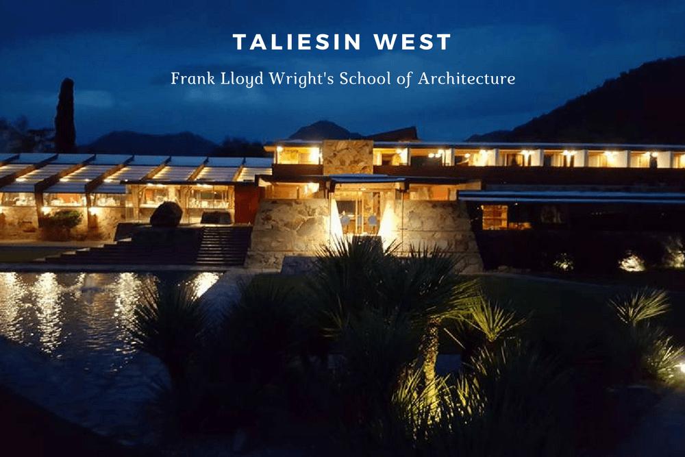 Taliesin West Frank Lloyd Wright Lighting Design