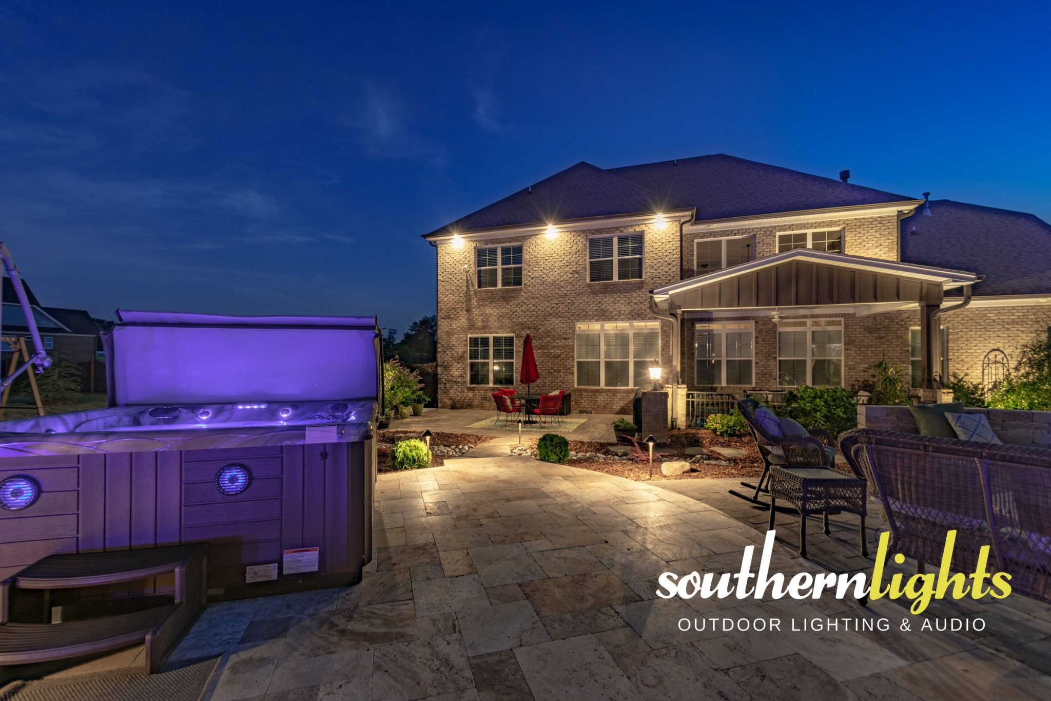 Pool and Landscape Lighting in Oak Ridge, NC 27310 Back Yard Lighting Ideas For Around A Pool on